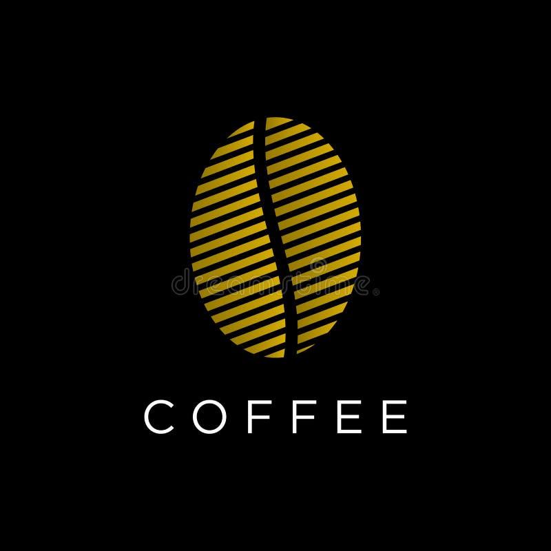 Kawy kreskowej sztuki logo nasieniodajny projekt royalty ilustracja