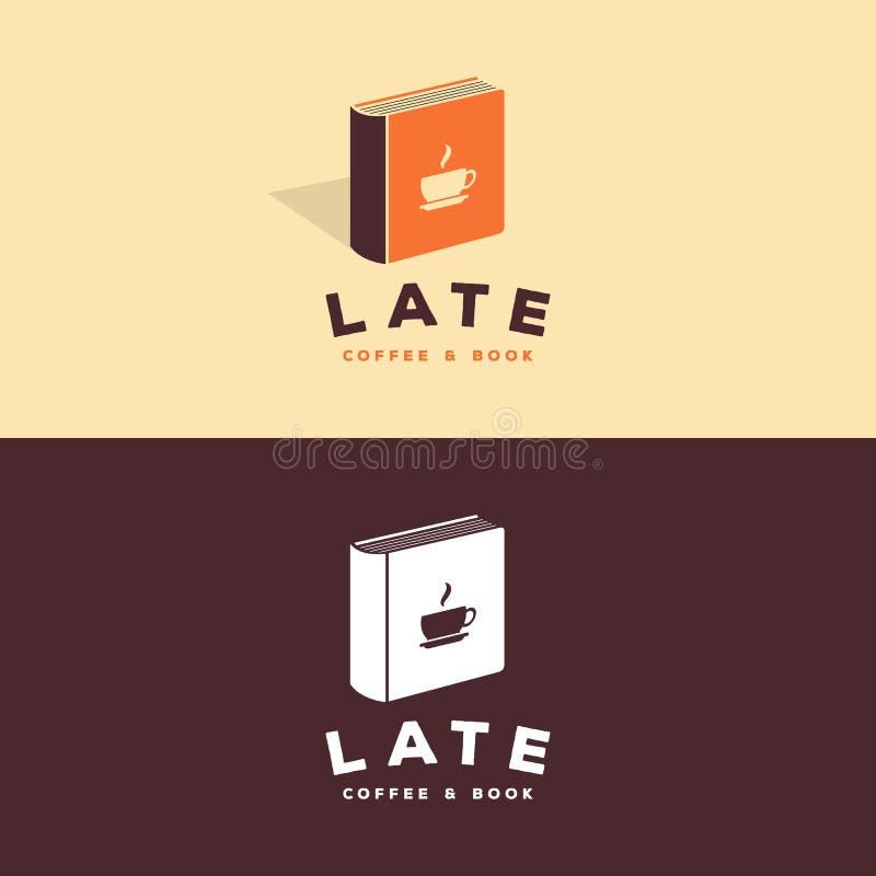 Kawy & książki logo ilustracja wektor