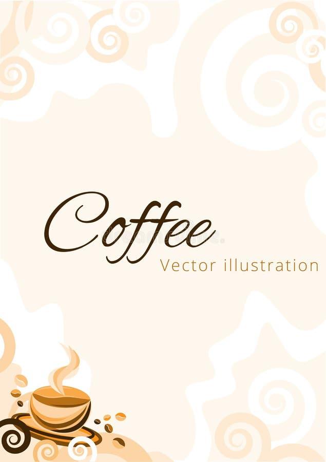 Kawy A4 papieru wektoru ilustracja ilustracji