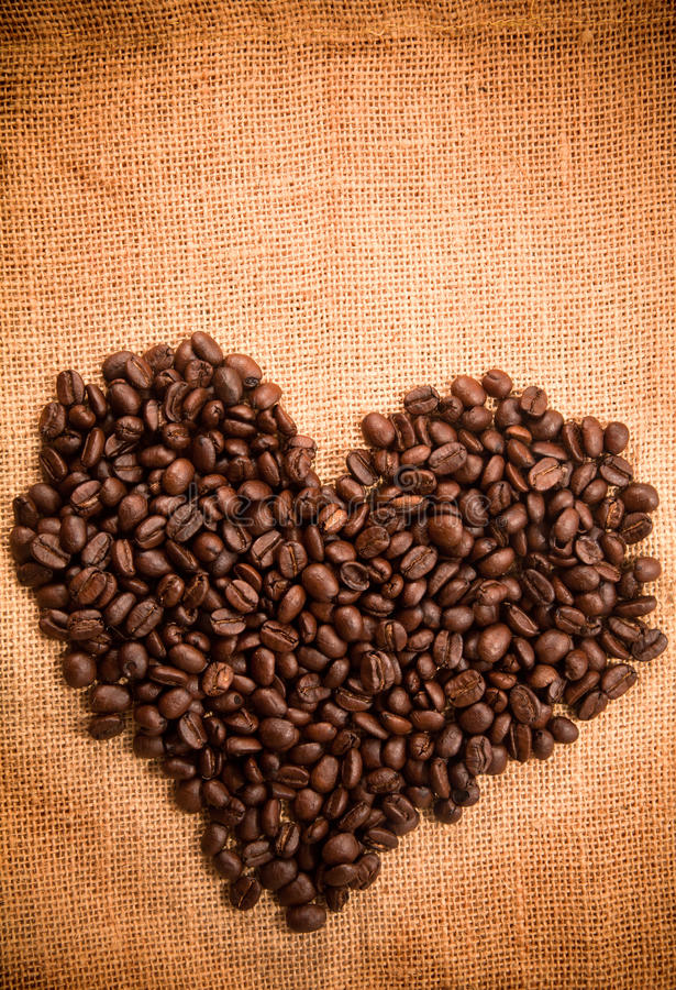 Kawy ziarna rama fotografia stock