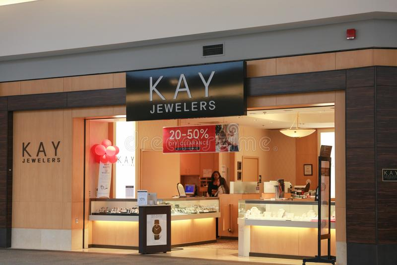 Kay Jewelers Retail fotografia stock