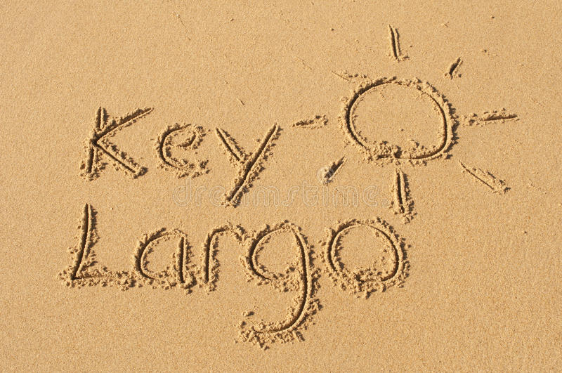 Kay Largo dans le sable photo libre de droits