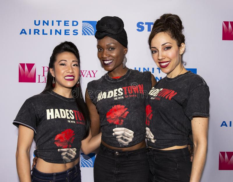 Kay Trinidad, Jewelle Blackman, & Yvette Gonzalez Nace  at 2019 Stars in the Alley. Actresses Kay Trinidad, Jewelle Blackman, and Annette Gonzales-Nice, at from royalty free stock photography