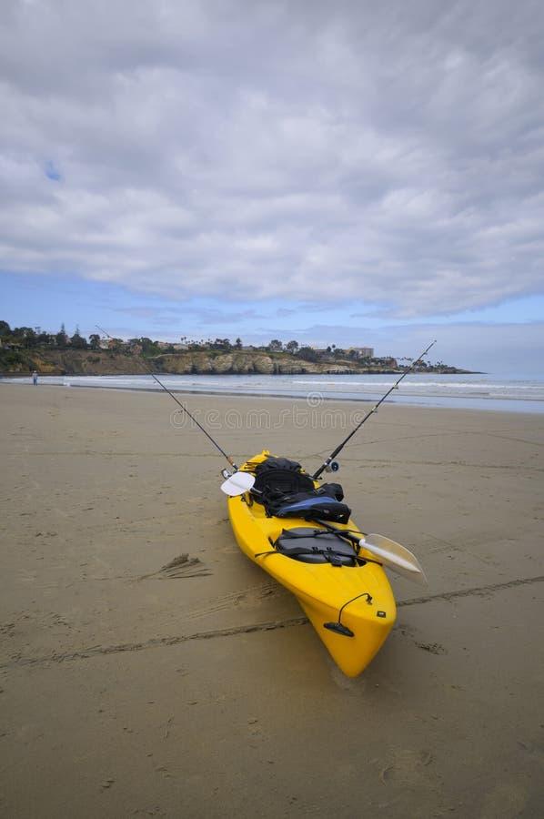 kayak пляжа стоковая фотография rf