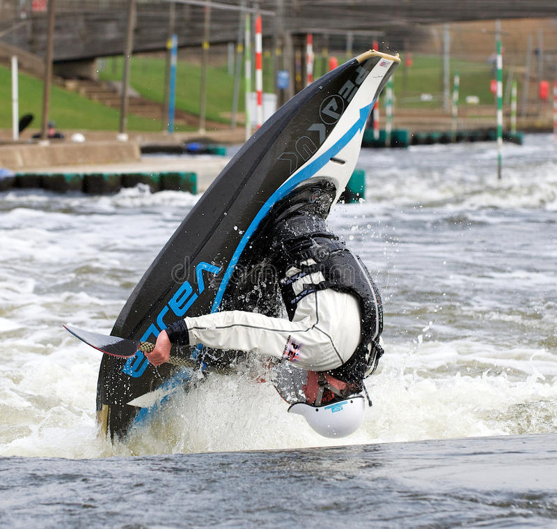 kayak фристайла стоковые фото
