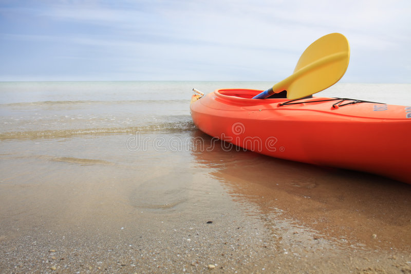 Download Kayak stock photo. Image of beach, clouds, calm, colourful - 8473936