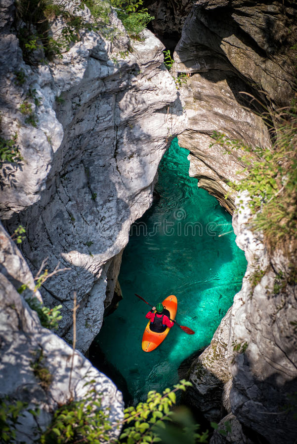 Kayak adventure in the Canyon stock image