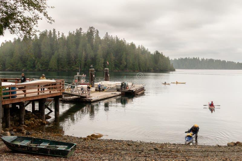 Kayak al suono di Barkley fotografie stock