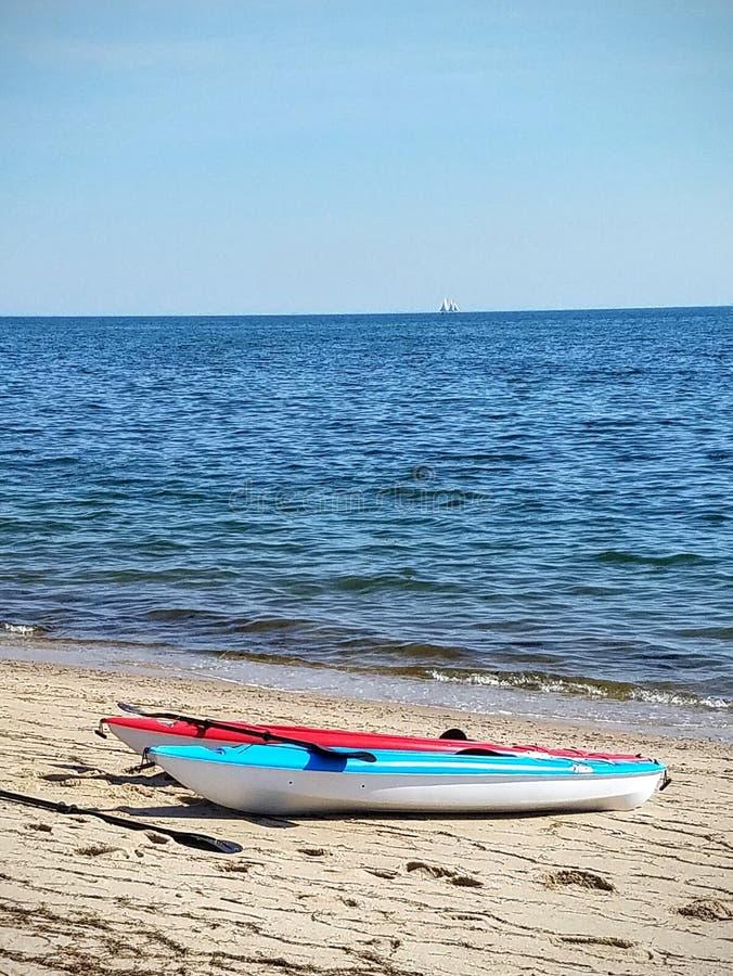 Kayak on the bay royalty free stock photo