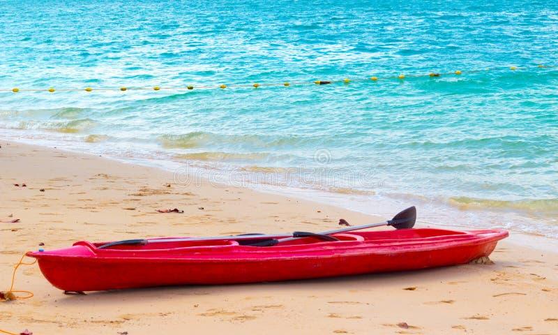 Kayak on the beach stock photos