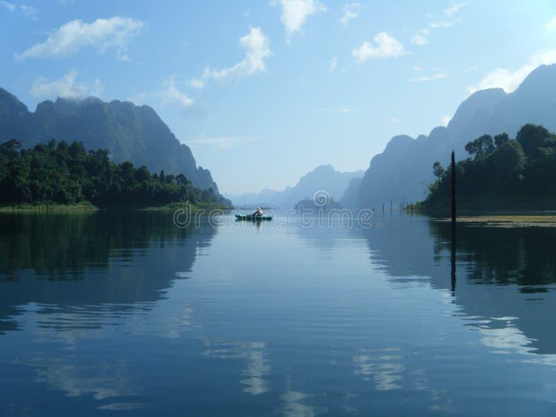 Kayak on blue waters stock photos