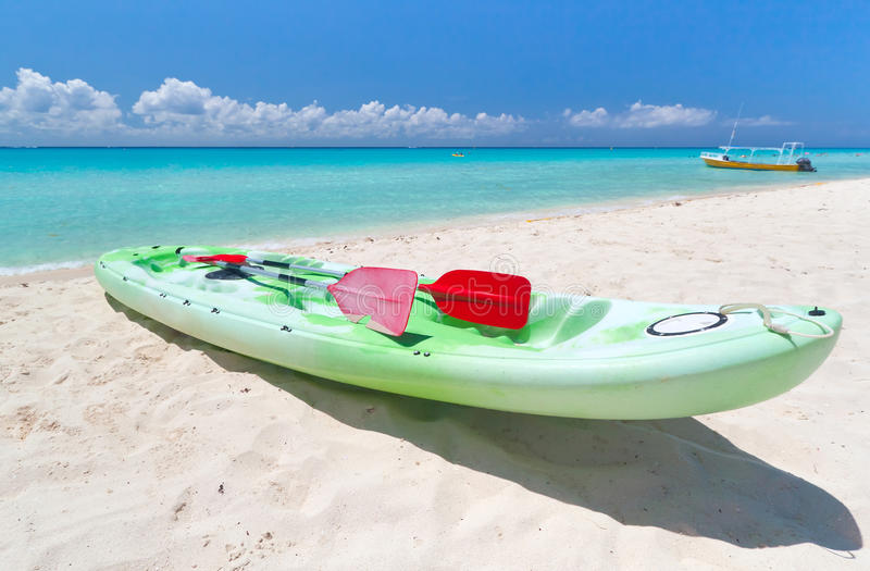 Download Kayak On The Caribbean Beach Stock Photo - Image: 21436168
