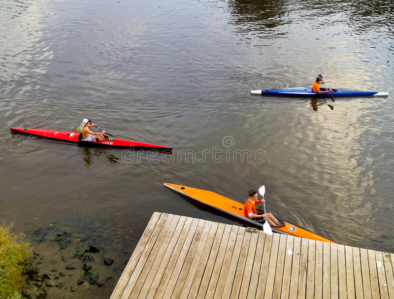 Download Kayak contest editorial photography. Image of ecology - 27338377