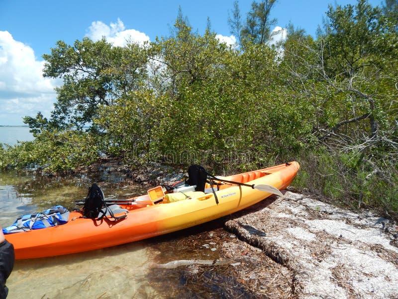Kayak day on intercoastal waterway near Boca grande florida. Kayak day on intercoastal waterway near Boca grande royalty free stock photos