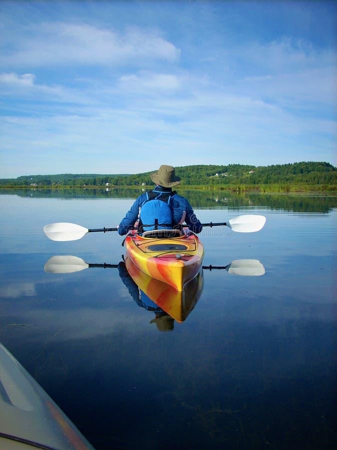 Kayak paisible photographie stock libre de droits
