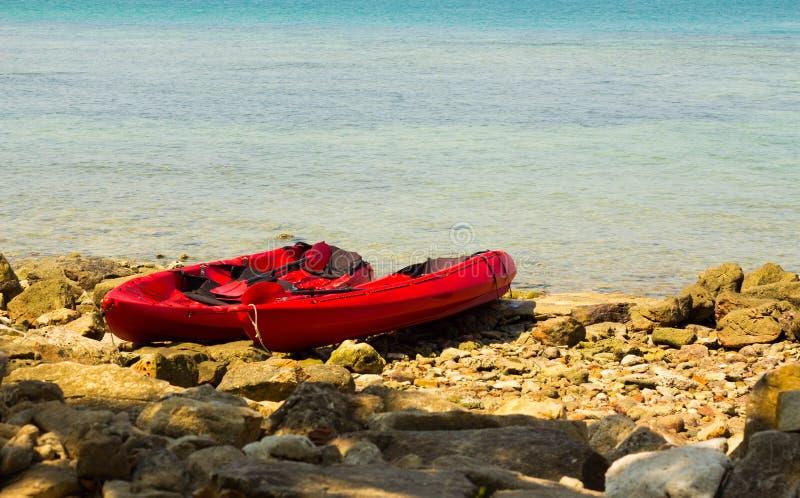 Kayak de mer photographie stock libre de droits