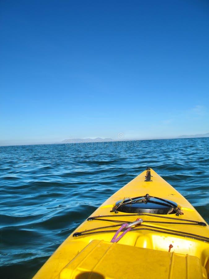 Kayak de mer ouverte photo libre de droits