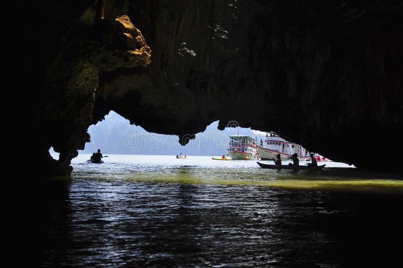 Kayak fahrende Exkursion stockbilder