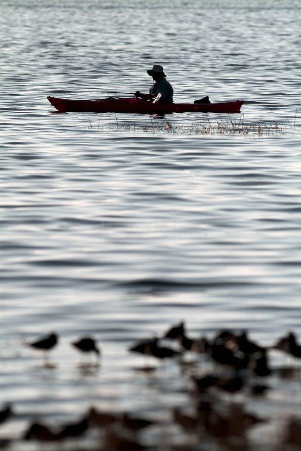 Kayak Fishing stock photos
