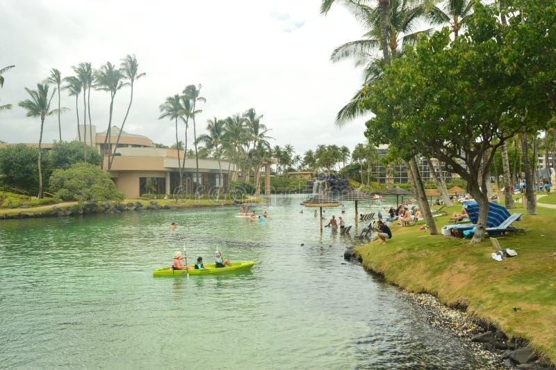 KAYAK IN HAWAII royalty free stock image