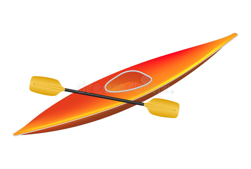 Kayak With Paddle Stock Image