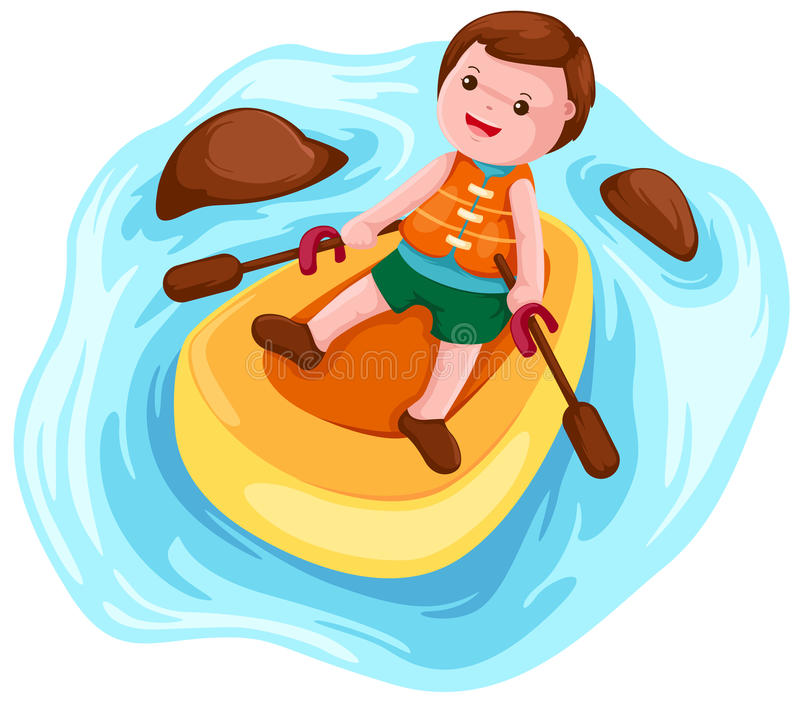 Download Kayak paddler stock vector. Illustration of athlete, play - 14346105