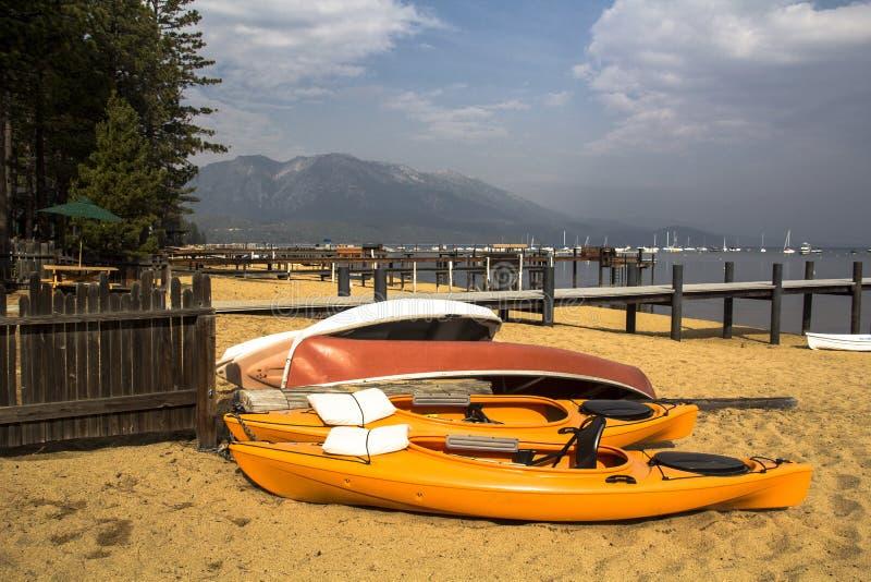 Kayak Pile stock photography