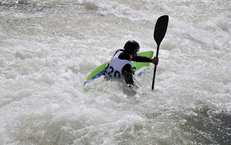 Download Kayak on the rapids stock photo. Image of competition - 5015590
