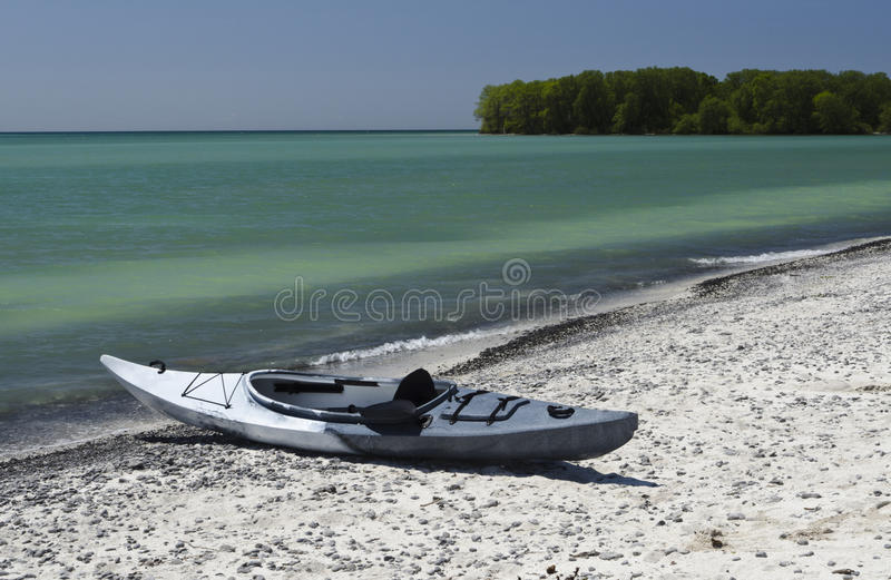Download Kayak on the Shoreline stock image. Image of colors, nature - 29393117