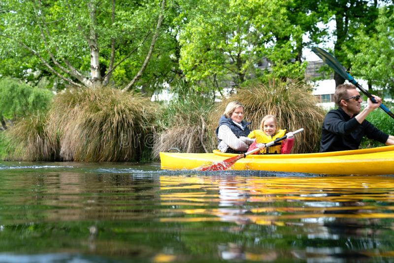 Kayak su Avon fotografia stock libera da diritti