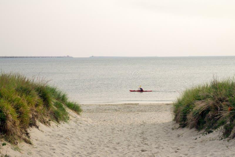 Kayak sulla baia di Chesapeake immagine stock libera da diritti