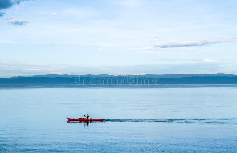 Kayak in Tasmania fotografie stock libere da diritti