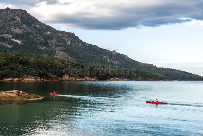 Kayak in Tasmania fotografie stock