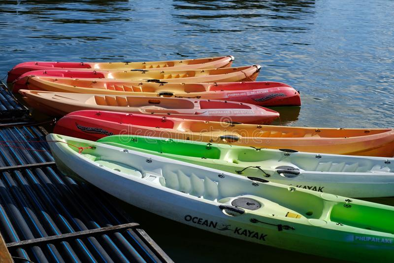 Kayak waiting for someone stock image