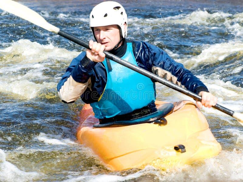 Kayaker fotografía de archivo