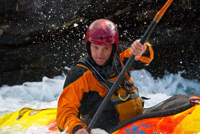 Kayaker fotografie stock