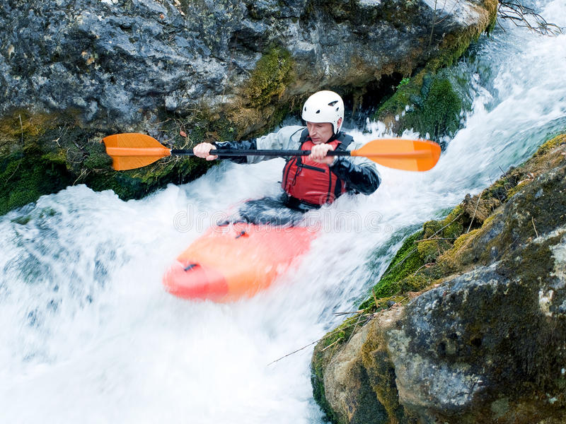 kayaker стоковое фото rf