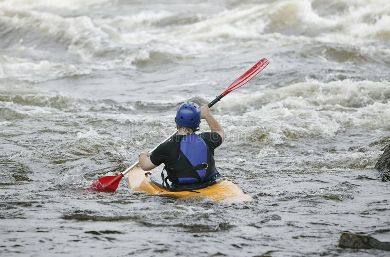 Kayaker 2 immagini stock libere da diritti