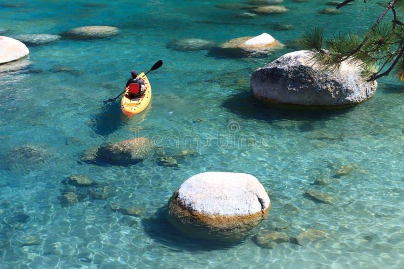 Kayaker royalty-vrije stock afbeeldingen