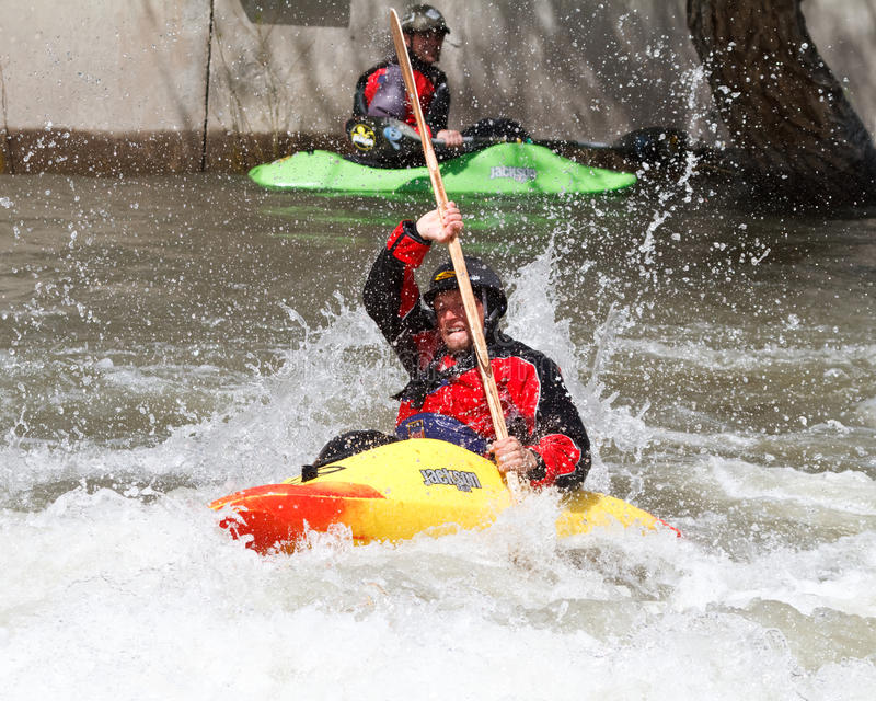 Kayaker image stock
