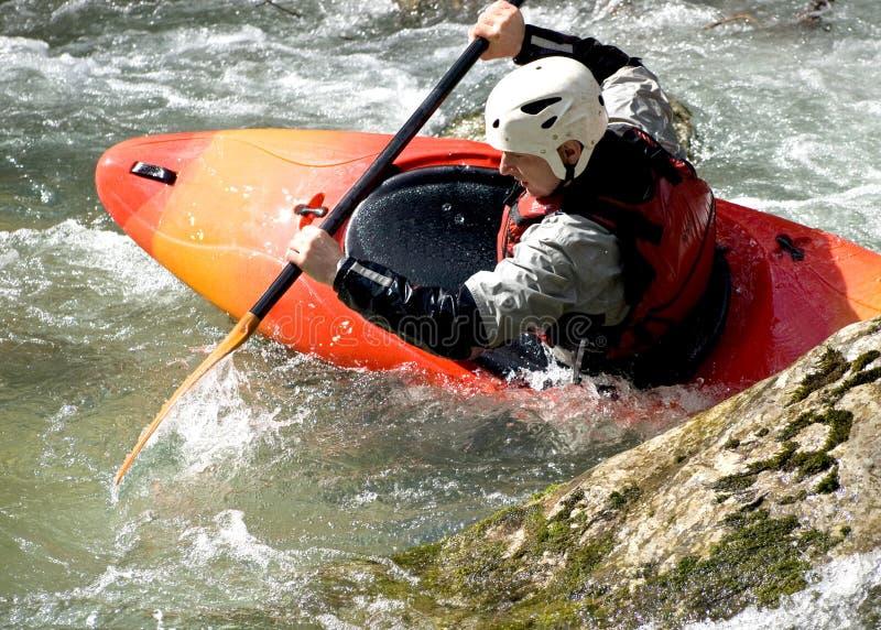 kayaker стоковая фотография