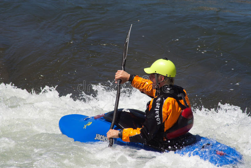 Kayaker obraz royalty free