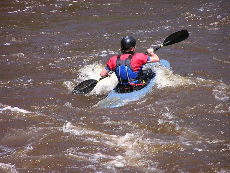 Kayaker 3 de fleuve photos stock