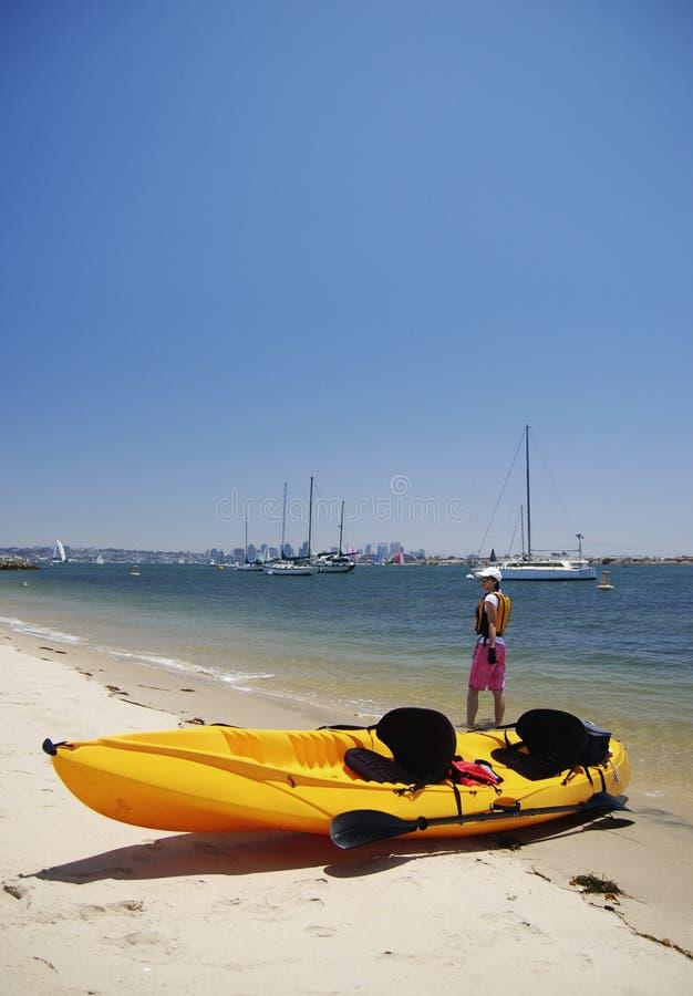 Kayaker image libre de droits