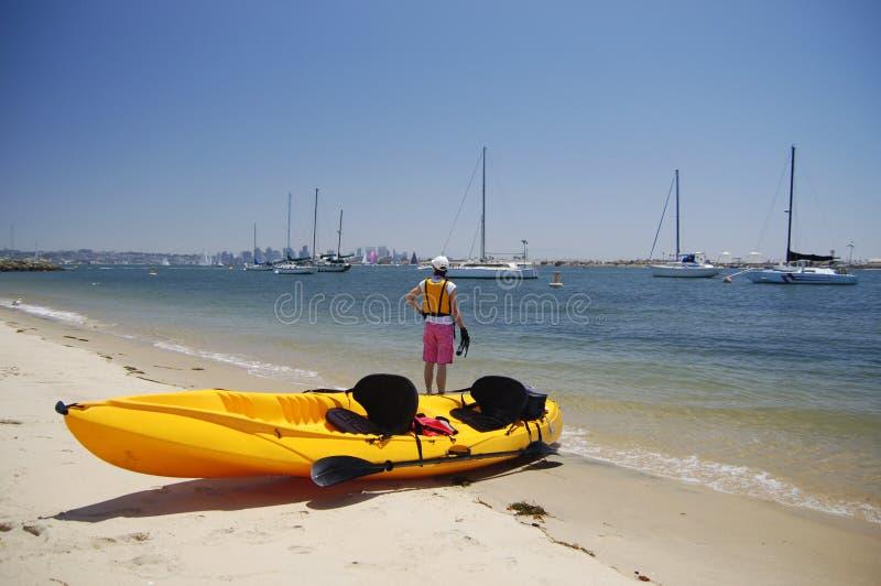Kayaker fotografie stock libere da diritti