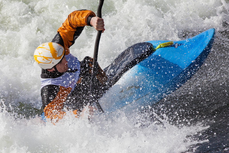 Kayaker стоковые изображения rf