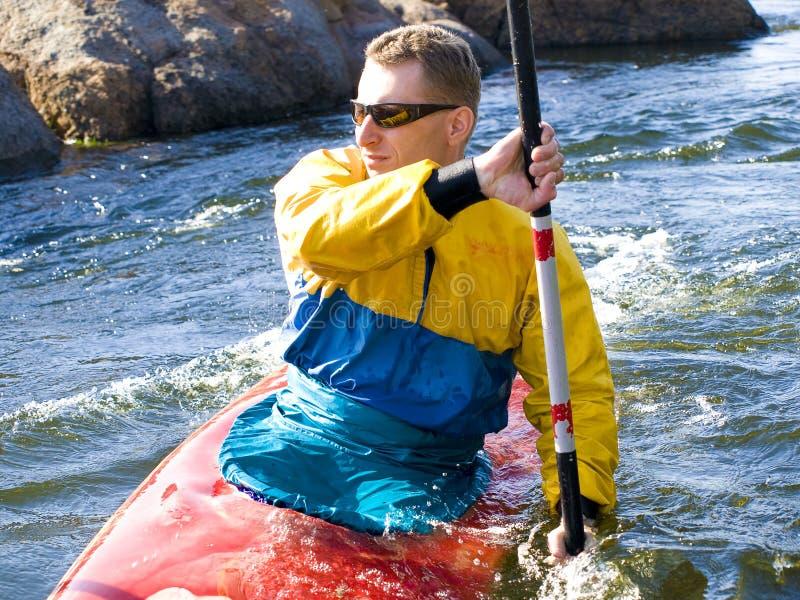 Kayaker foto de archivo