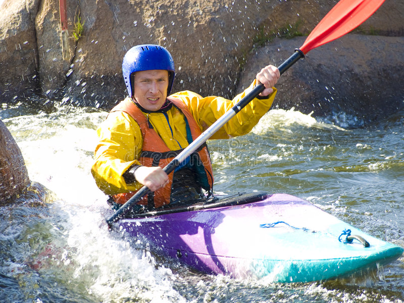 Kayaker imagen de archivo