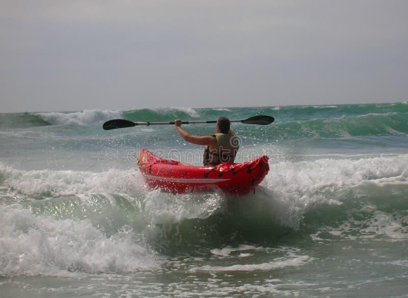 Kayaker immagine stock