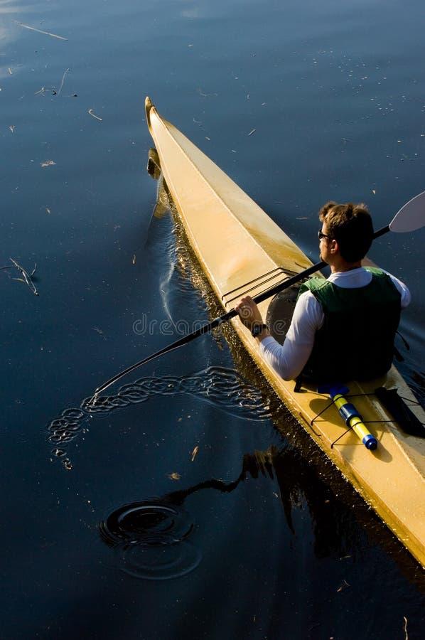 Kayaker immagine stock libera da diritti